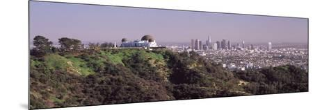 Observatory on a Hill with Cityscape in the Background, Griffith Park Observatory, Los Angeles, ...--Mounted Photographic Print