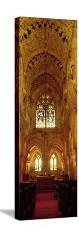 Interiors of a Chapel, Rosslyn Chapel, Roslin, Midlothian, Edinburgh, Scotland--Stretched Canvas Print