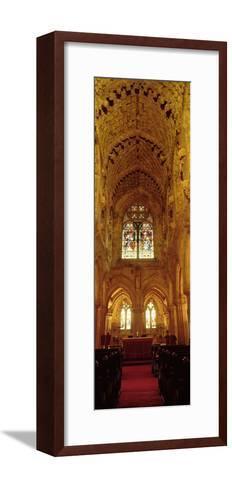 Interiors of a Chapel, Rosslyn Chapel, Roslin, Midlothian, Edinburgh, Scotland--Framed Art Print