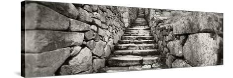 Ruins of a Staircase at an Archaeological Site, Inca Ruins, Machu Picchu, Cusco Region, Peru--Stretched Canvas Print