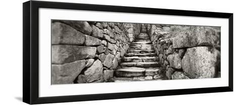Ruins of a Staircase at an Archaeological Site, Inca Ruins, Machu Picchu, Cusco Region, Peru--Framed Art Print