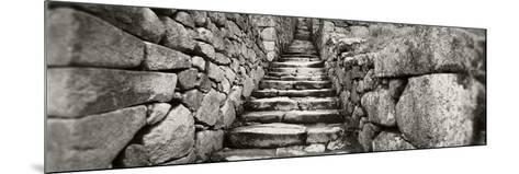 Ruins of a Staircase at an Archaeological Site, Inca Ruins, Machu Picchu, Cusco Region, Peru--Mounted Photographic Print