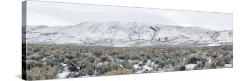 Mountain Range, Black Rock Desert, Nevada, USA--Stretched Canvas Print