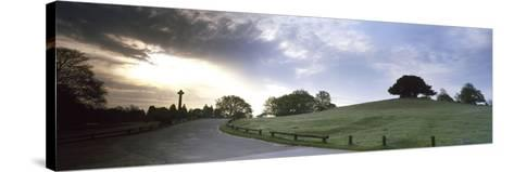 Road Passing Through a Landscape at Dawn, Bolton's Bench, Lyndhurst, New Forest, Hampshire, England--Stretched Canvas Print