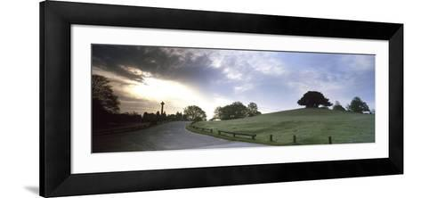 Road Passing Through a Landscape at Dawn, Bolton's Bench, Lyndhurst, New Forest, Hampshire, England--Framed Art Print