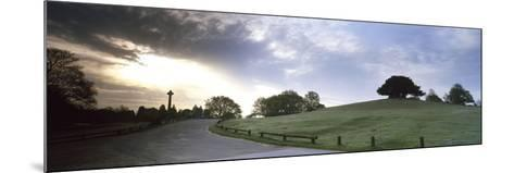 Road Passing Through a Landscape at Dawn, Bolton's Bench, Lyndhurst, New Forest, Hampshire, England--Mounted Photographic Print