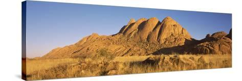 Rock Formations in a Desert at Dawn, Spitzkoppe, Namib Desert, Namibia--Stretched Canvas Print