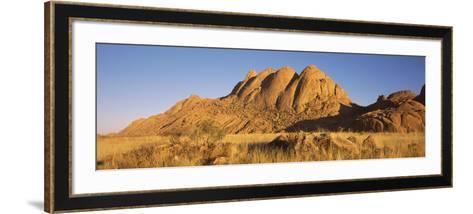 Rock Formations in a Desert at Dawn, Spitzkoppe, Namib Desert, Namibia--Framed Art Print