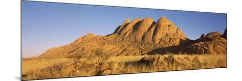 Rock Formations in a Desert at Dawn, Spitzkoppe, Namib Desert, Namibia--Mounted Photographic Print