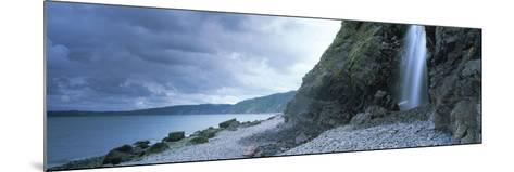 Waterfall on the Beach, Shingle Beach, Clovelly, North Devon, Devon, England--Mounted Photographic Print