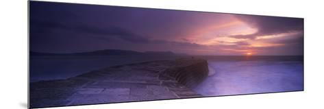 Sea at Dawn, the Cobb, Lyme Regis, Dorset, England--Mounted Photographic Print