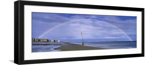 Rainbow over the Sea, Portobello, Edinburgh, Scotland--Framed Art Print