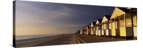 Beach Huts in a Row, Southwold, Waveney, Suffolk, England--Stretched Canvas Print
