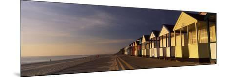 Beach Huts in a Row, Southwold, Waveney, Suffolk, England--Mounted Photographic Print