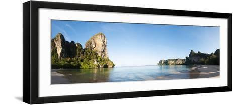 Rock Formations on the Coast, Railay Beach, Thailand--Framed Art Print
