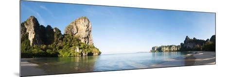 Rock Formations on the Coast, Railay Beach, Thailand--Mounted Photographic Print