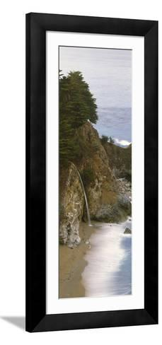 Rocks on the Beach, McWay Falls, Julia Pfeiffer Burns State Park, Monterey County, Big Sur, Cali...--Framed Art Print
