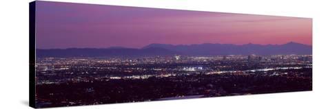 Cityscape at Sunset, Phoenix, Maricopa County, Arizona, USA 2010--Stretched Canvas Print