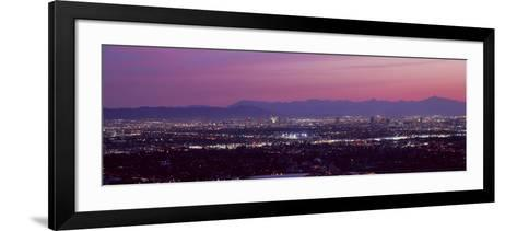 Cityscape at Sunset, Phoenix, Maricopa County, Arizona, USA 2010--Framed Art Print