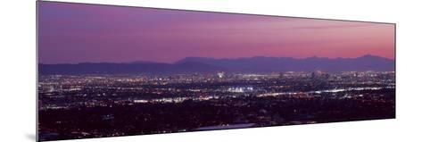 Cityscape at Sunset, Phoenix, Maricopa County, Arizona, USA 2010--Mounted Photographic Print