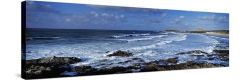 Waves in the Ocean, Fistral Beach, Cornwall, England--Stretched Canvas Print