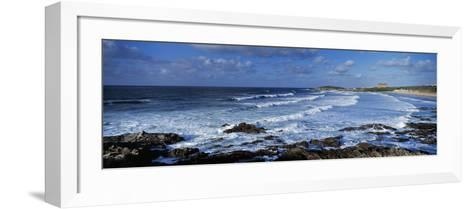 Waves in the Ocean, Fistral Beach, Cornwall, England--Framed Art Print