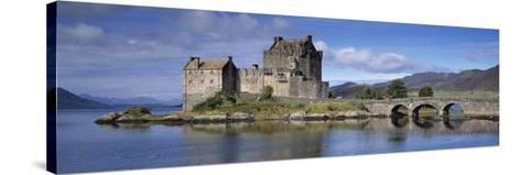 Castle on an Island, Eilean Donan, Loch Duich, Dornie, Highlands Region, Scotland--Stretched Canvas Print