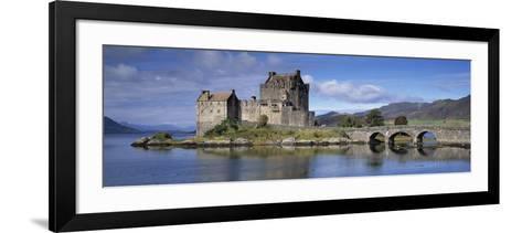 Castle on an Island, Eilean Donan, Loch Duich, Dornie, Highlands Region, Scotland--Framed Art Print
