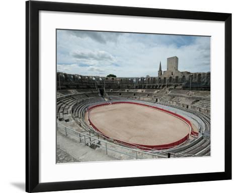 Ancient Amphitheater in a City, Arles Amphitheatre, Arles, Bouches-Du-Rhone, Provence-Alpes-Cote...--Framed Art Print