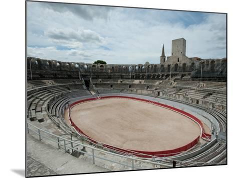 Ancient Amphitheater in a City, Arles Amphitheatre, Arles, Bouches-Du-Rhone, Provence-Alpes-Cote...--Mounted Photographic Print