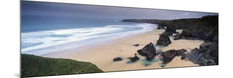 Rock Formations on the Coast, Carnewas and Bedruthan Steps, St. Eval, Cornwall, England--Mounted Photographic Print