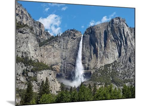 View of Yosemite Falls in Spring, Yosemite National Park, California, USA--Mounted Photographic Print