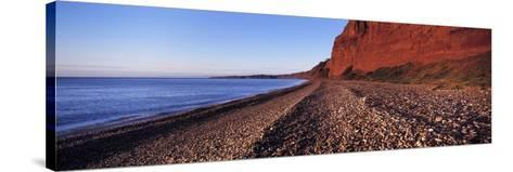 Pebbles on the Beach, Budleigh Salterton, Devon, England--Stretched Canvas Print