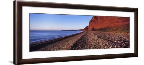 Pebbles on the Beach, Budleigh Salterton, Devon, England--Framed Art Print