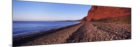 Pebbles on the Beach, Budleigh Salterton, Devon, England--Mounted Photographic Print