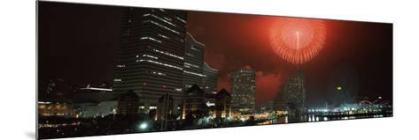 Fireworks Display in the Sky, Minato Mirai, Yokohama, Kanagawa Prefecture, Japan 2010--Mounted Photographic Print
