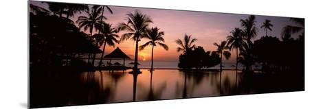 Sunset over Hotel Pool, Lombok, West Nusa Tenggara, Indonesia--Mounted Photographic Print