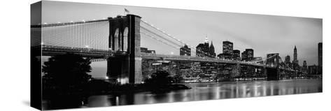 Brooklyn Bridge across the East River at Dusk, Manhattan, New York City, New York State, USA--Stretched Canvas Print