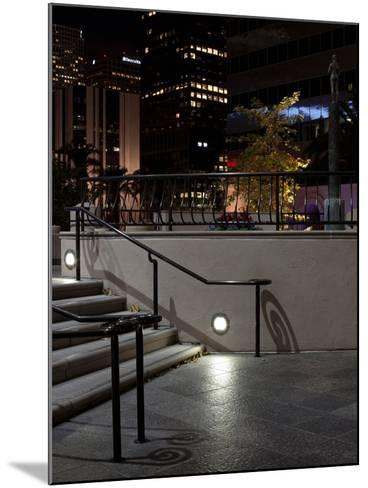 Steps of a Building at Night, US Bank Tower, Los Angeles, California, USA--Mounted Photographic Print