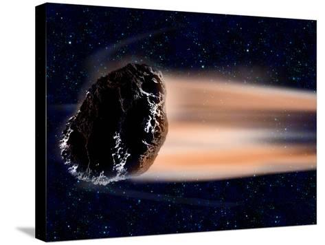 Meteor Coming at Earth--Stretched Canvas Print