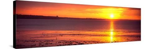 Sunrise over the Beach, Cap Coz, Fouesnant, Finistere, Brittany, France--Stretched Canvas Print