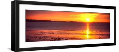 Sunrise over the Beach, Cap Coz, Fouesnant, Finistere, Brittany, France--Framed Art Print