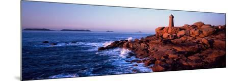 Lighthouse on the Coast, Ploumanach Lighthouse, Cote De Granit Rose, Cotes-D'Armor, Brittany, Fr...--Mounted Photographic Print