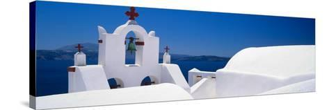 Church, Oia, Santorini, Cyclades Islands, Greece--Stretched Canvas Print