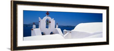 Church, Oia, Santorini, Cyclades Islands, Greece--Framed Art Print