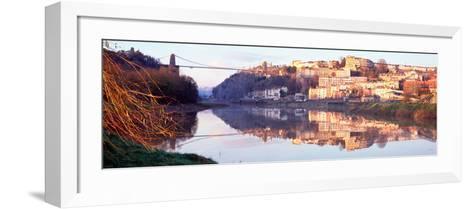 Suspension Bridge across a River, Clifton Suspension Bridge, Bristol, England--Framed Art Print