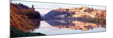 Suspension Bridge across a River, Clifton Suspension Bridge, Bristol, England--Mounted Photographic Print