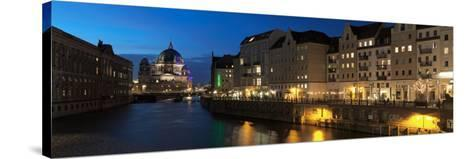 Berlin Cathedral and Nikolaiviertel at Spree River, Berlin, Germany--Stretched Canvas Print