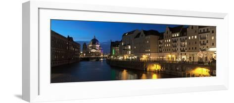 Berlin Cathedral and Nikolaiviertel at Spree River, Berlin, Germany--Framed Art Print