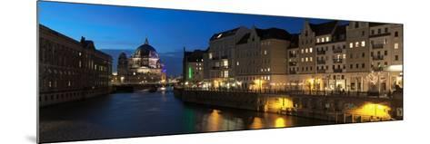 Berlin Cathedral and Nikolaiviertel at Spree River, Berlin, Germany--Mounted Photographic Print